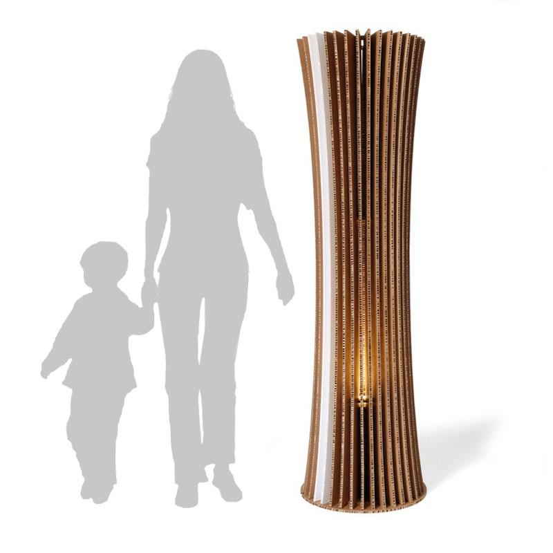 Recycled Cardboard Floor Lamp
