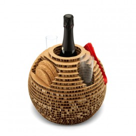 Recycled cardboard bottle holder - Holé