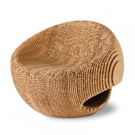 Recycled cardboard single seat - Canyon