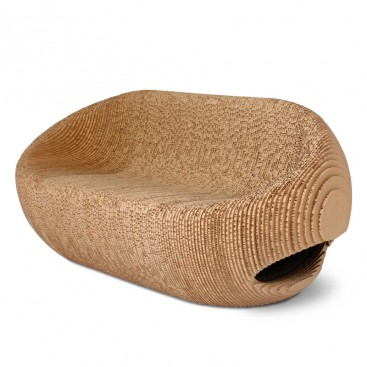 Seduta doppia in cartone riciclato - Canyon
