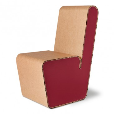 Sedia in cartone riciclato - Snake