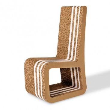 Sedia In Cartone Alveolare   Stripe