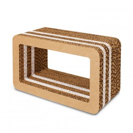 Honeycomb cardboard furnishing element - Stripe Cube