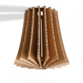 Recycled cardboard suspension lamp - Bouquet