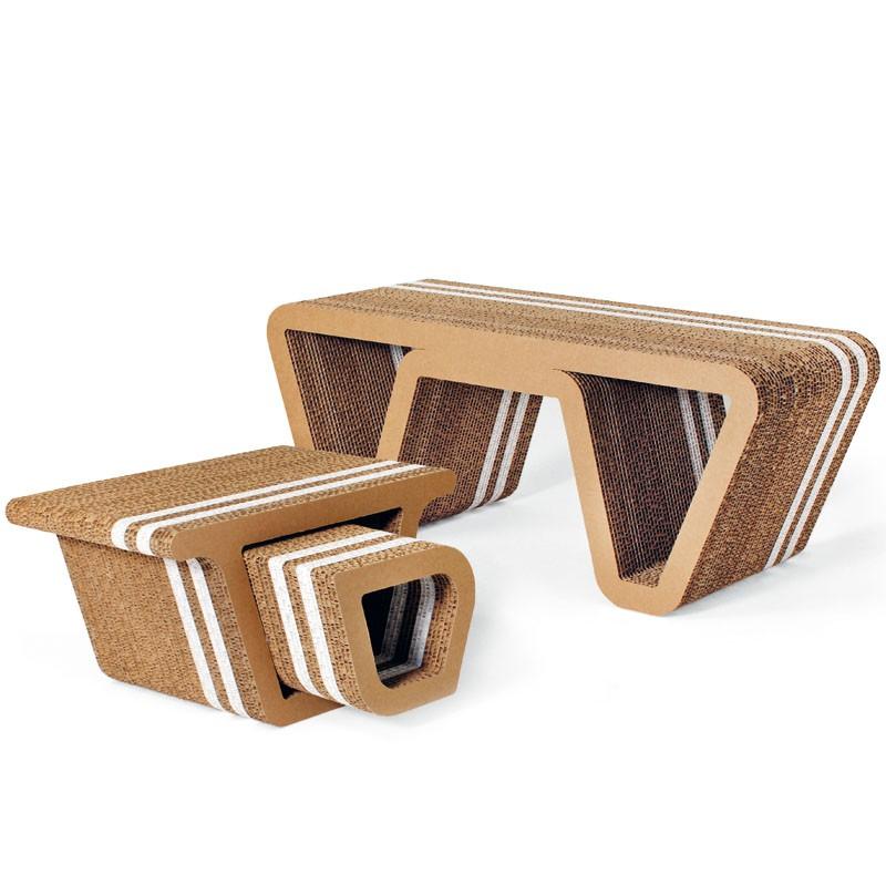 honeycomb cardboard furnishings underground origami furniture